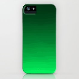 Happy Bright Apple Green Ombre iPhone Case