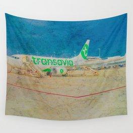 Transavia Boeing 737-300 in Munich Wall Tapestry