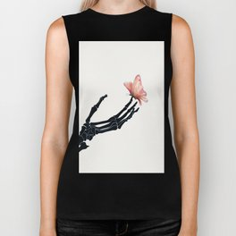 Butterfly on Skeleton Hand Biker Tank