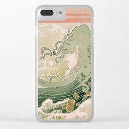 The Wave, 1897 - Art Nouveau Poster Clear iPhone Case