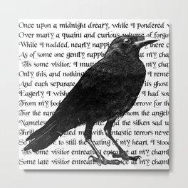 Raven Poem Metal Print