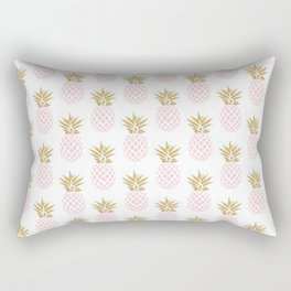 Elegant faux gold pineapple pattern Rectangular Pillow