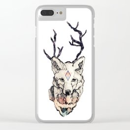 Fox Head Clear iPhone Case