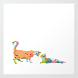 Cats: Frank and Beans Art Print