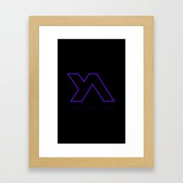Youth Alive Purple & Black on Black Framed Art Print