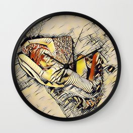 4248s-JG Beautiful Jessica Striped Nude Erotica in the Style of Kandinsky Wall Clock