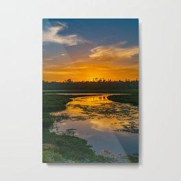 Back Bay Sunset Metal Print