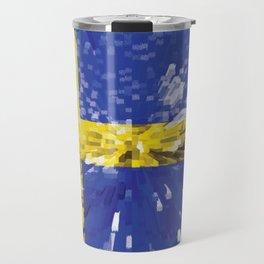 Extruded Flag of Sweden Travel Mug