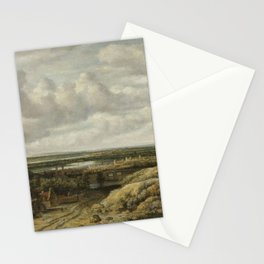Philips Koninck - Distant View with Cottages along a Road Stationery Cards