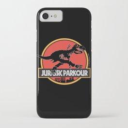 Jurassic Parkour iPhone Case