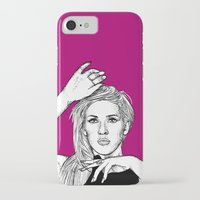 ellie goulding iPhone & iPod Cases featuring Ellie Goulding by Sharin Yofitasari