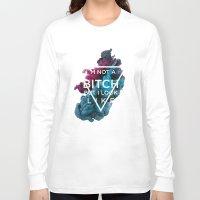 bitch Long Sleeve T-shirts featuring Bitch by daniel berea