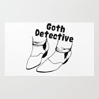 goth Area & Throw Rugs featuring Goth Detective. by LiseRichardson