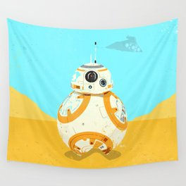 """""""BB-8 with Star Destroyer"""" by Showdeer Wall Tapestry"""