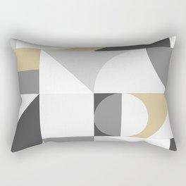Bauhaus style modern golden pattern Rectangular Pillow