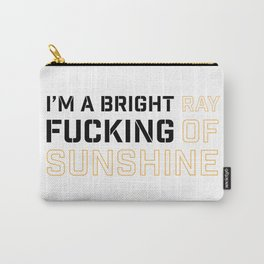 RAY OF SUNSHINE (white) Carry-All Pouch