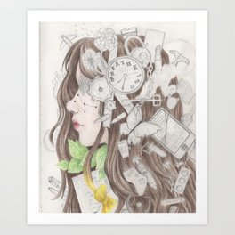 Cluttered Thoughts Art Print