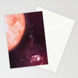 Drifting Astronaut  Stationery Cards