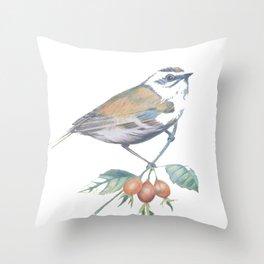 Little Snowbird #bird Throw Pillow