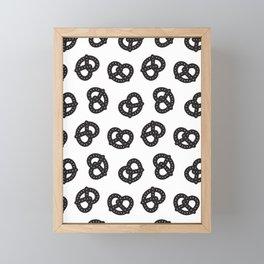 Postmodern Pretzels in Black + White Framed Mini Art Print
