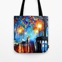 STARRY NIGHT TARDIS Tote Bag