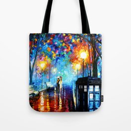 STARRY NIGHT TARDIS Tote Bag