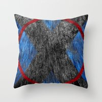 beast Throw Pillows featuring Beast by Some_Designs