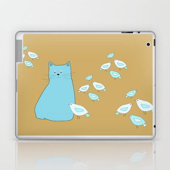 Cat and birds Laptop & iPad Skin
