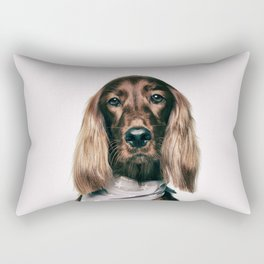 Fashionable spaniel doggo Rectangular Pillow
