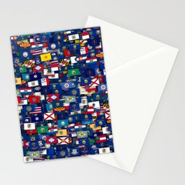 Flags of all US states Stationery Cards