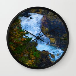 White Falls along the Berg Lake Trail in BC Wall Clock