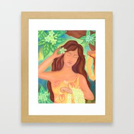 Leis For Sale, Hawaiiana Framed Art Print