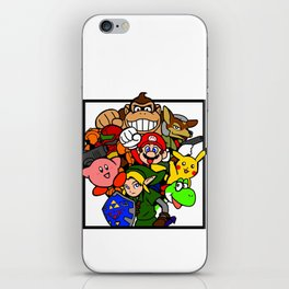 Super Smash 64 Roster iPhone Skin