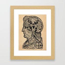 Psychology Plan of the Brain Framed Art Print