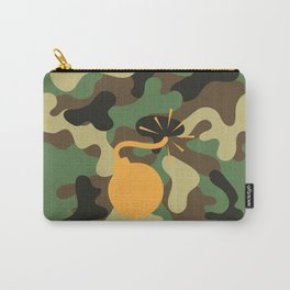 CAMO & ORANGE BOMB DIGGITY Carry-All Pouch
