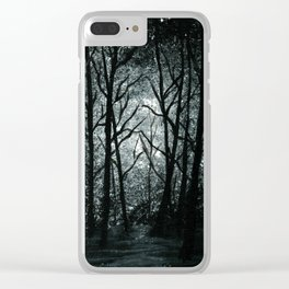 Cold Night Forest Clear iPhone Case