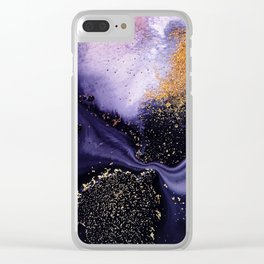 Flow I Abstract Clear iPhone Case