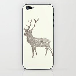 Wood Grain Stag iPhone Skin