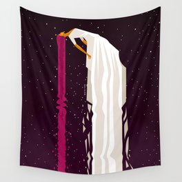 woman flying in space Wall Tapestry