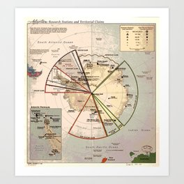 Antarctica Territories Art Print