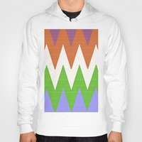 chevron Hoodies featuring Chevron by Saundra Myles