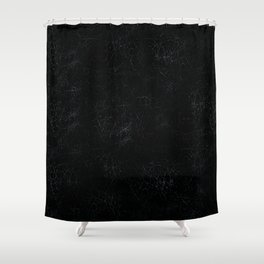 Black Crackling Leather-Look Shower Curtain