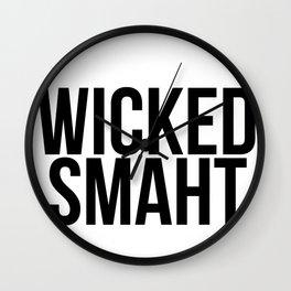 Smart Wicked Smaht Wall Clock