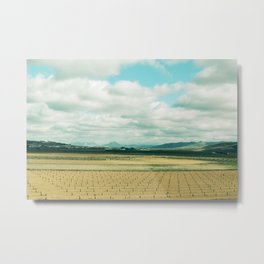 The field | Modern train landscape photography Metal Print