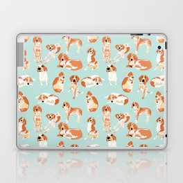 Redtick Coonhound on Light Blue Laptop & iPad Skin