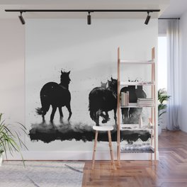 Homeward - A Herd of Horses Wall Mural