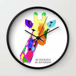 Be yourself, be different - Giraffa Wall Clock
