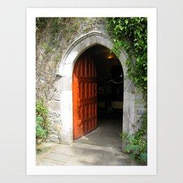 Through The Red Door Art Print