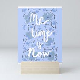 Me Time Purple Floral Illustration Mini Art Print