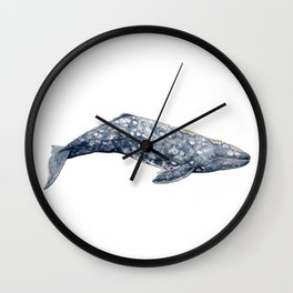 Grey whale Wall Clock